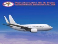 Panchmukhi Advanced Air Ambulance service in Hyderabad with Doctor