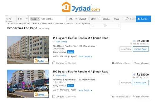 Apartment for rent in karachi