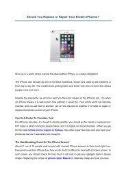 Should You Replace or Repair Your Broken iPhones?