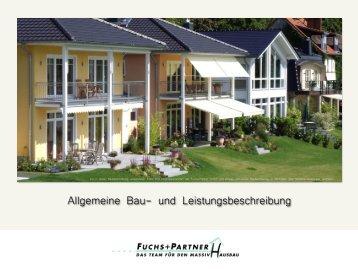 Allgemeine Bau- und Leistungsbeschreibung - Fuchs+Partner GmbH