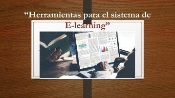 herramientas del sistema de e-learning