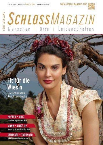 SchlossMagazin Fünfseenland August 2018