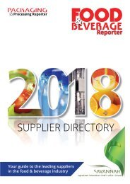 Food & Beverage Reporter 2018 Supplier Director