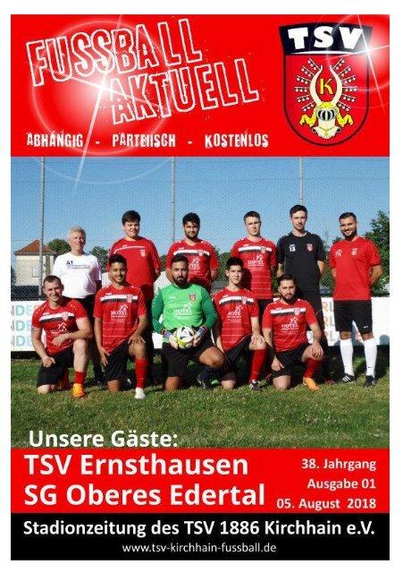 03+05.08.2018 Stadionzeitung TSV Ernsthausen / SG Oberes Edertal