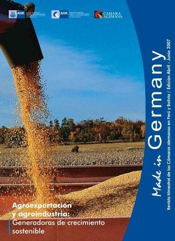 Agroexportación y agroindustria - Cámara de Comercio e Industria ...
