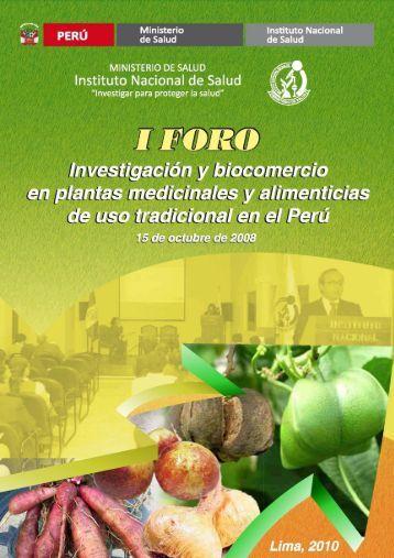 I Foro Investigación y biocomercio en plantas medicinales y ...