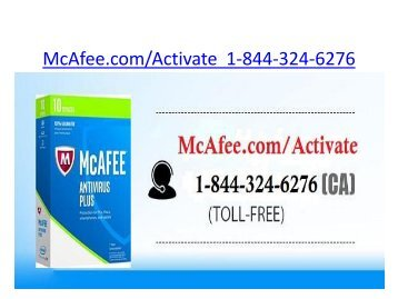 McAfee.com/Activate Card  | 1-844-324-6276 | McAfee MTP Retail Card