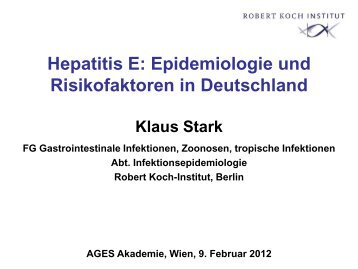 """03. """"Hepatitis E: Epidemiologie und Risikofaktoren in Deutschland"""