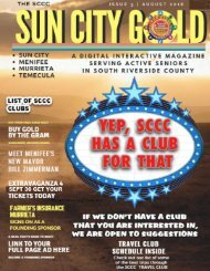 SUN CITY GOLD 8-2-18