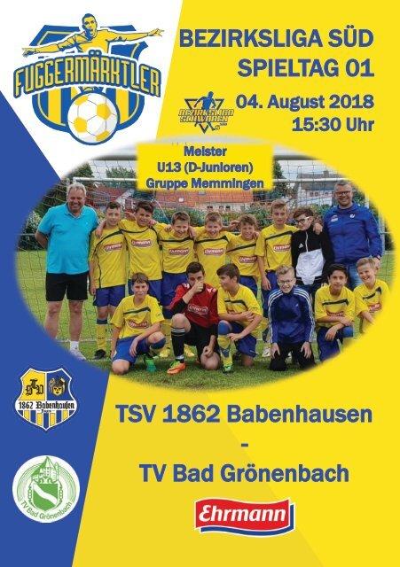 201800804 Fuggermärktler TSV 1862 Babenhausen – TV Bad Grönenbach