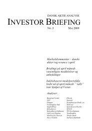 Markedskommentar – danske aktier tog revance i april Briefings på ...