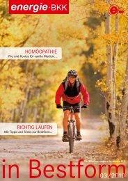 HomöopatHie RicHtig Laufen - energie-BKK