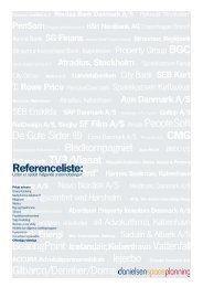 Referenceliste - Danielsen Space Planning