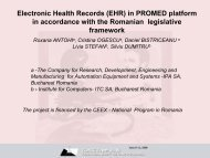 Electronic Health Records (EHR) in PROMED platform in ... - ICMCC