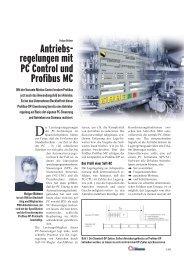 Antriebs- regelungen mit PC Control und Profibus MC - download ...