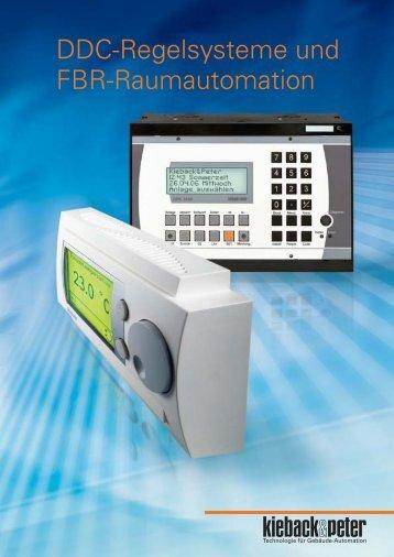 Prospekt DDC-Regelsysteme und FBR-Raumautomation