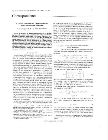 A general framework for frequency domain multi-channel signal ...