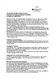 Informationen zur Teilnahme an der multizentrischen ...