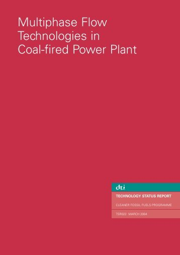 Multiphase flow technologies in coal-fired power plant - Dius.gov.uk