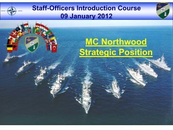 NATO Maritime Security Operations - NATO MC Northwood UK