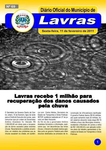 Edição nº69-11/02/2011 - Prefeitura Municipal de Lavras
