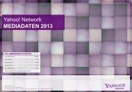 Yahoo! Network MEDIADATEN 2013 - Yimg