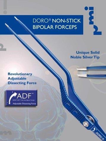 DORO® Non-Stick Bipolar Forceps - Bayonet Guide Stop - Medel