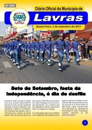 Edição nº206-02/09/2011 - Prefeitura Municipal de Lavras