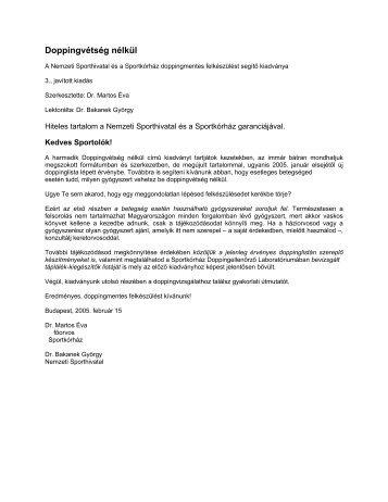 Tiltott készítmények és módszerek - Magyar Nemzeti Autósport ...