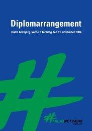 Diplomarrangement - Miljønetværk Syd