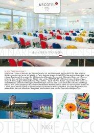 Download PDF Meetings & Eventsfolder ARCOTEL Nike Linz