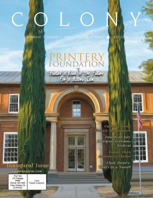 2018 July COLONY Magazine
