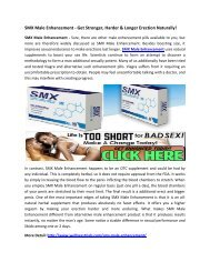 SMX Male Enhancement - Gives You More Energy & Power!