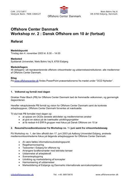 Dansk Offshore om 10 år (fortsat) - Offshore Center Danmark
