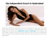 Vip Independent escorts In Hyderabad