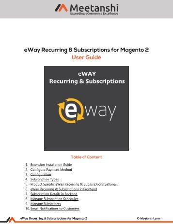 Magento 2 eWay Recurring & Subscriptions