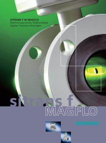 SITRANS F M MAGFLO Elektromagnetiska flödesmätare ... - Siemens
