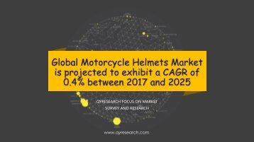 Global Motorcycle Helmets Market is projected to exhibit a CAGR of 0.4