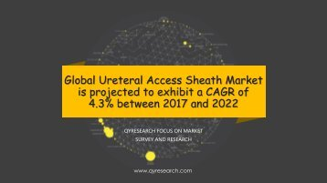 Global Ureteral Access Sheath Market is projected to exhibit a CAGR of 4.3