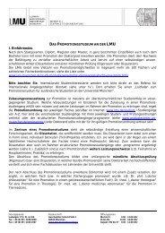 Das Promotionsstudium an der LMU - Ludwig-Maximilians ...
