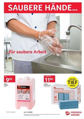 Gewerbe - Saubere Hände für saubere Arbeit D