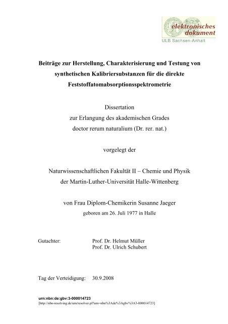 Uni halle bibliothek dissertationen dissertation paper in education