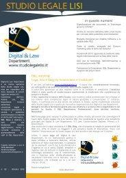 Digitalizzazione dei documenti: la Tecnologia ... - Studio Legale Lisi