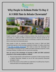 Why People In Kolkata Prefer To Buy 2 & 3BHK Flats In Behala Chowrasta