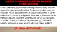 CANON CUSTOMER SUPPORT NUMBER +1-800-610-6962