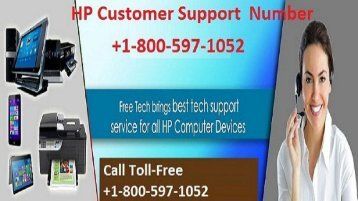 HP Customer Support Number +1-800-597-1052
