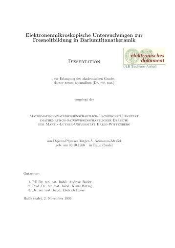 Elektronenmikroskopische Untersuchungen zur Fresnoitbildung in ...