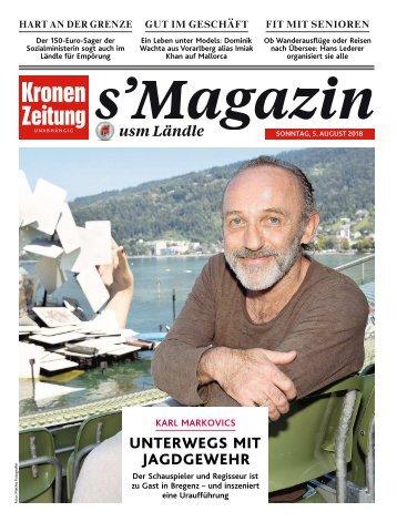 s'Magazin usm Ländle, 5. August 2018