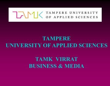 Degree Programme in Business Administration * Marketing and ...