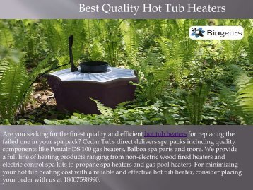 Best Quality Hot Tub Heaters